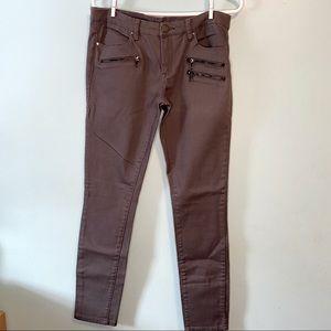 Blank NYC Gray Moto Zipper Jeans 29